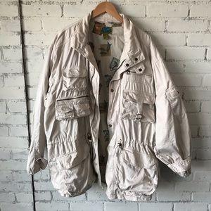 Vintage Safari Flack Jacket Sz XL Bush Hunting